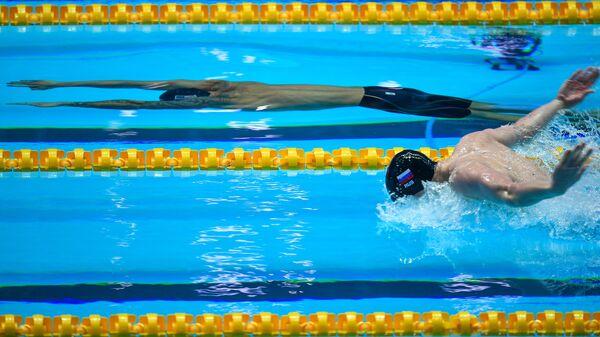 Андрей Минаков (Россия) в соревнованиях по плаванию