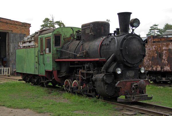 Паровоз в Переславском железнодорожном музее