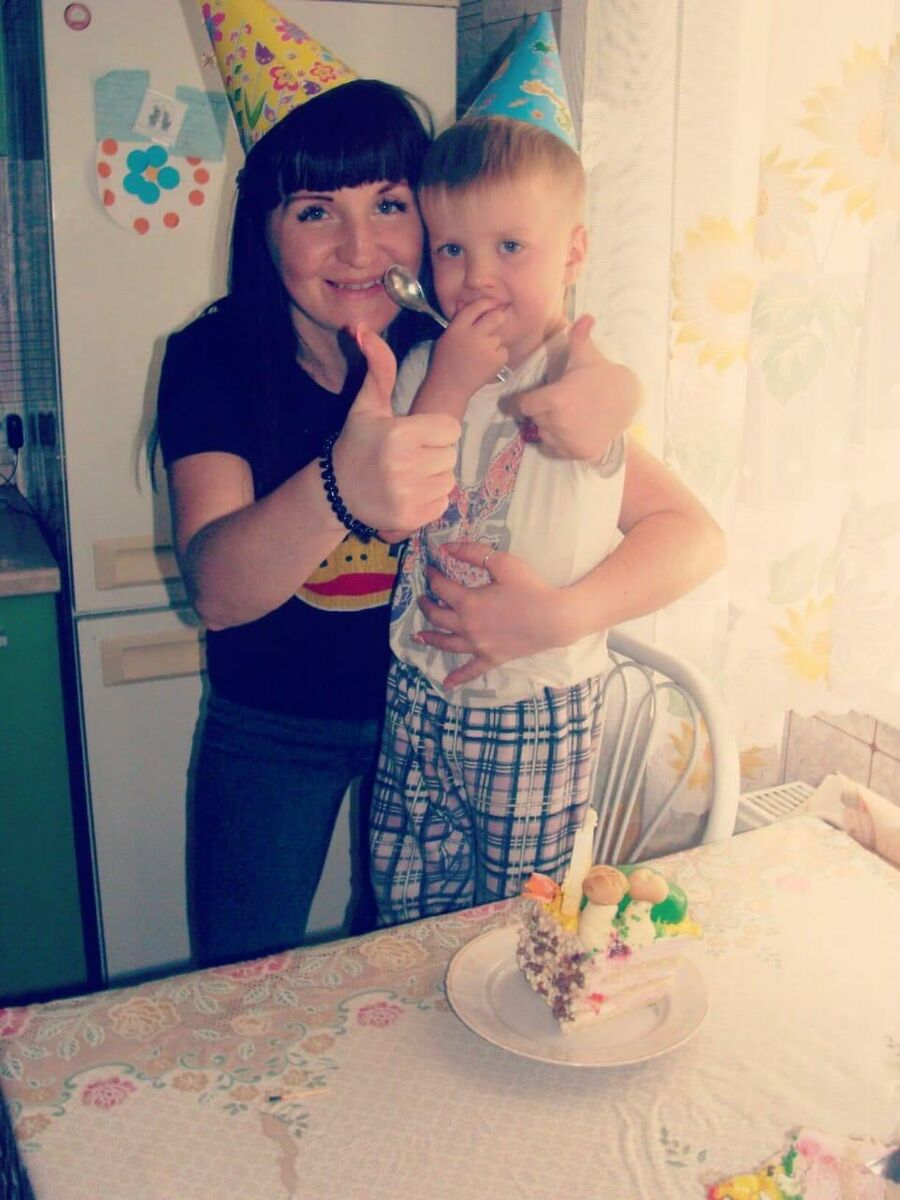 Наталья Стороженко со страшим сыном