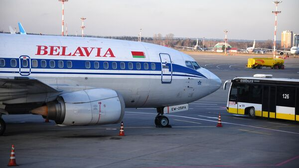 Самолет авиакомпании Белавиа в международном аэропорту Внуково