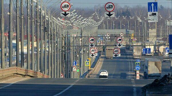 Участок границы Белоруссии и России на трассе М1