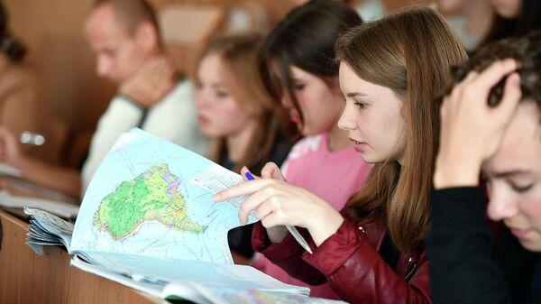 Участники Всероссийского географического диктанта