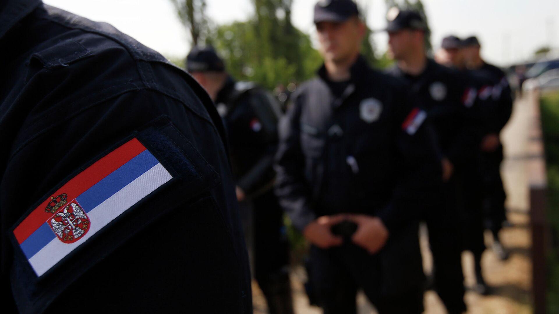 Сотрудники полиции Сербии - РИА Новости, 1920, 07.06.2021