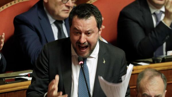 Лидер итальянской партии Лига Севера Маттео Сальвини