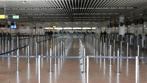 Зона регистрации пассажиров в аэропорту Брюсселя
