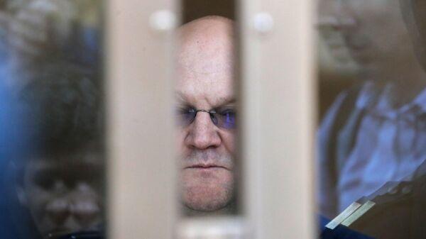 Александр Дрыманов во время оглашения приговора в Московском городском суде