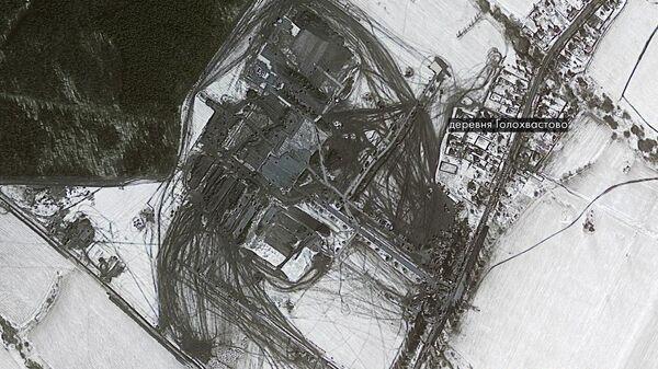 Спутниковый снимок строящегося в Новой Москве инфекционного центра