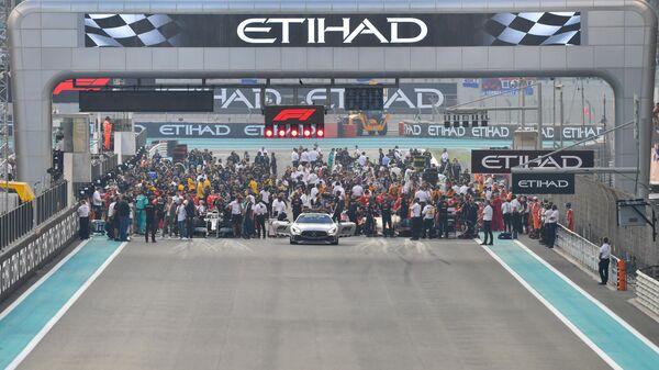 Стартовая решетка на этапе Гран-при Абу-Даби Формулы-1