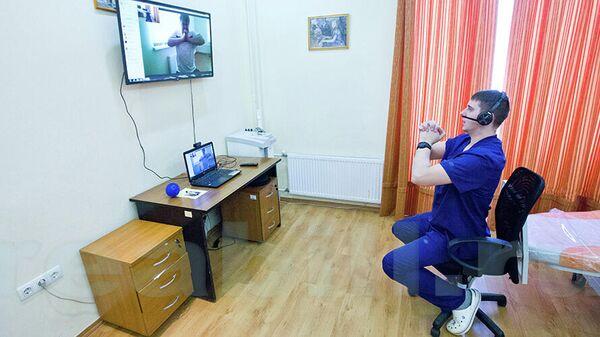Занятие по программе  домашней реабилитации  СТЕПС РЕАБИЛ