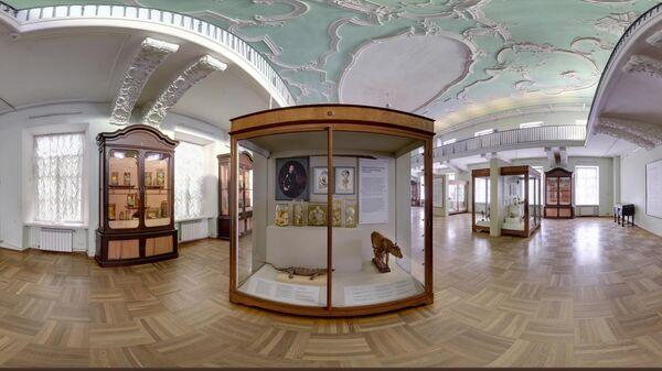 Зал первых естественнонаучных коллекций. Здесь экспонируются знаменитые коллекции Фредерика Рюйша и Альберта Себы, а также личные вещи Петра Первого