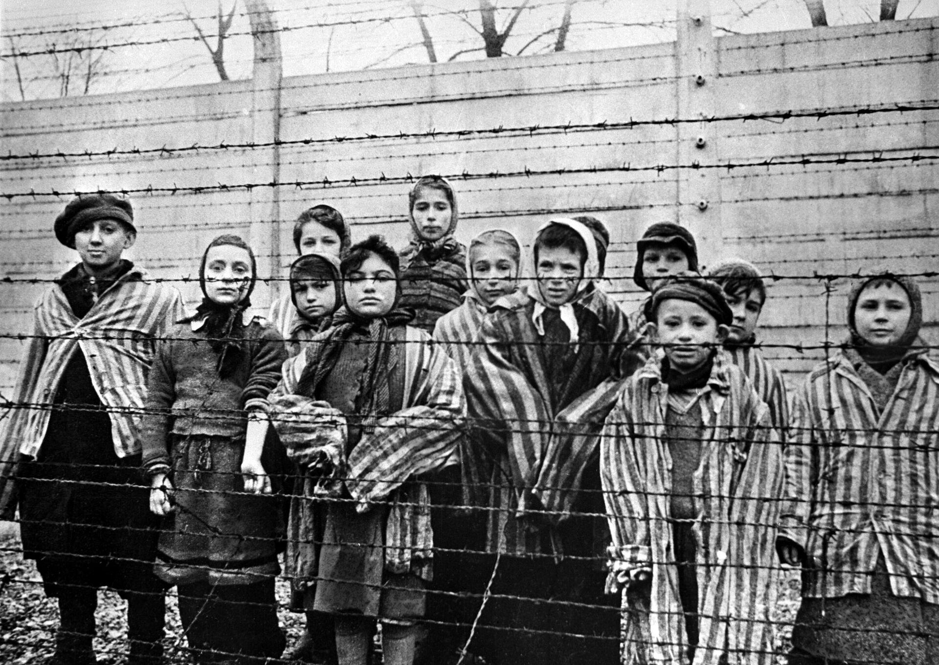 Дети, заключенные концентрационного лагеря Освенцим - РИА Новости, 1920, 29.04.2021