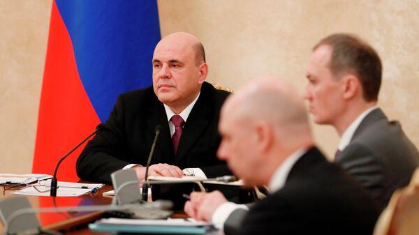 Председатель правительства РФ Михаил Мишустин проводит заседание координационного совета по противодействию коронавирусной инфекции