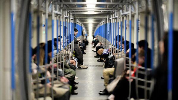 Пассажиры московского метрополитена