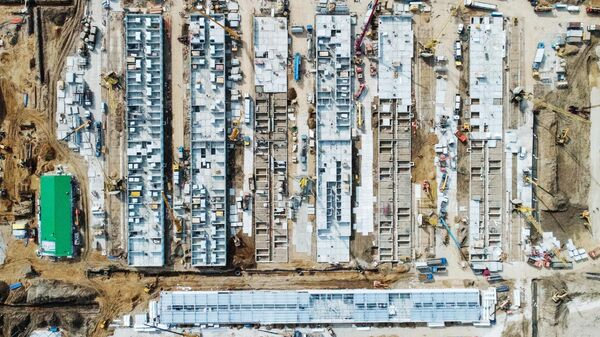 Строительная площадка инфекционной больницы в Новой Москве