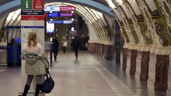 Пассажир петербургского метрополитена