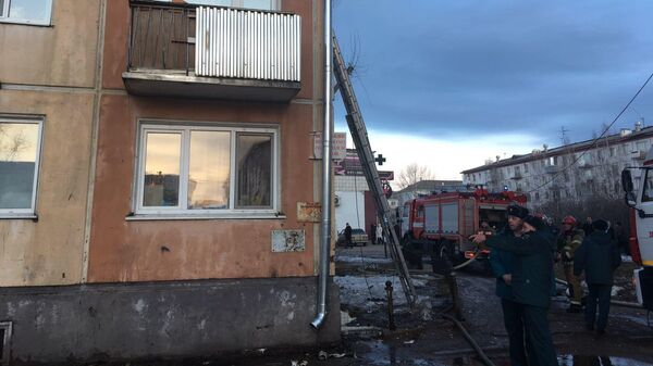 Ликвидация пожара в Зеленогорске, Красноярский край
