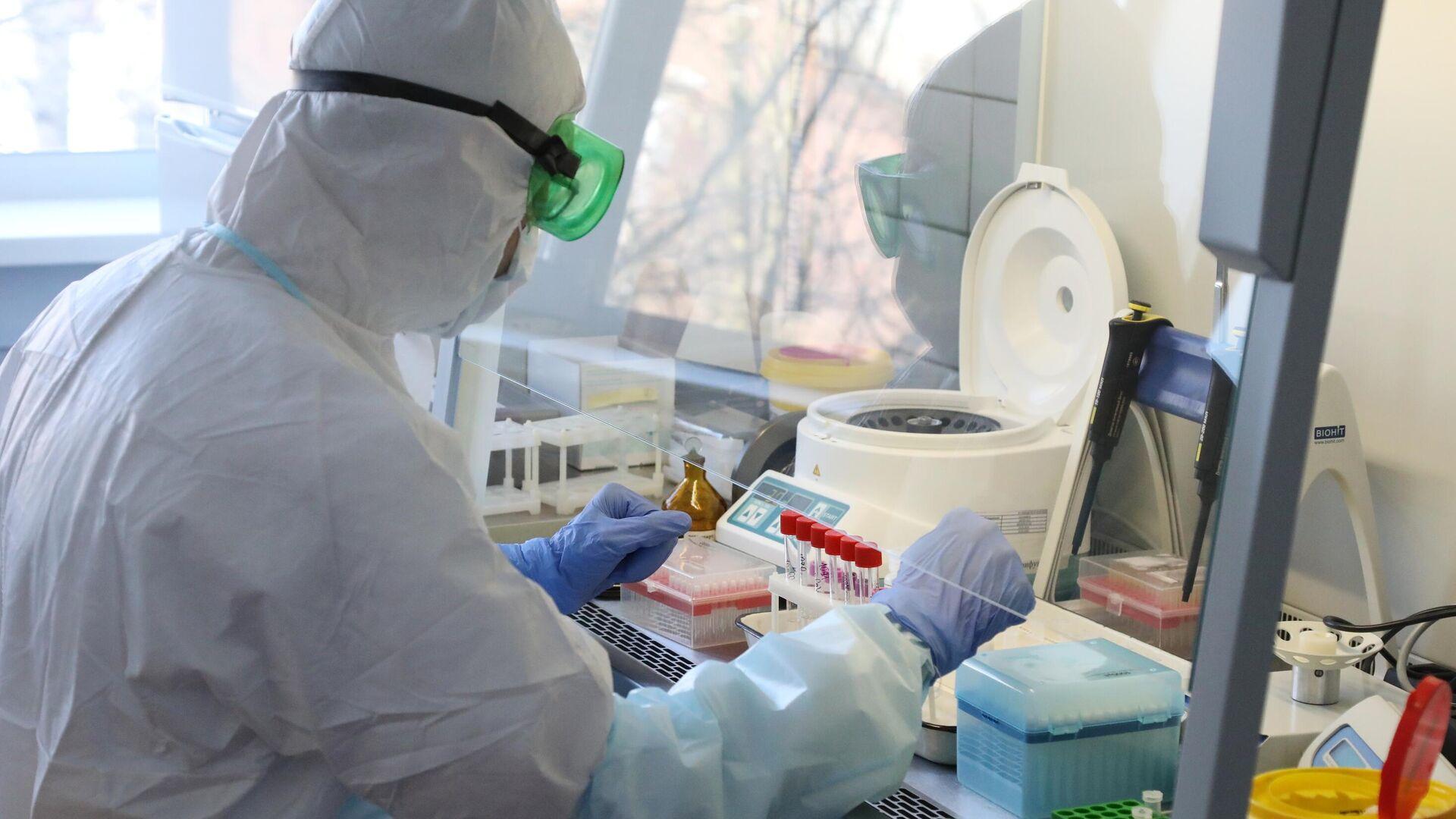 Лаборатория для тестирования на коронавирус  - РИА Новости, 1920, 03.03.2021