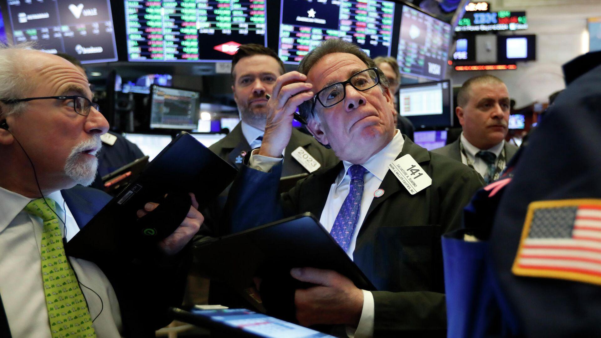 Торги на фондовой бирже в Нью-Йорке - РИА Новости, 1920, 05.08.2021