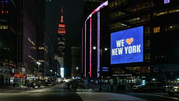 Улица Таймс-сквер в Нью-Йорке