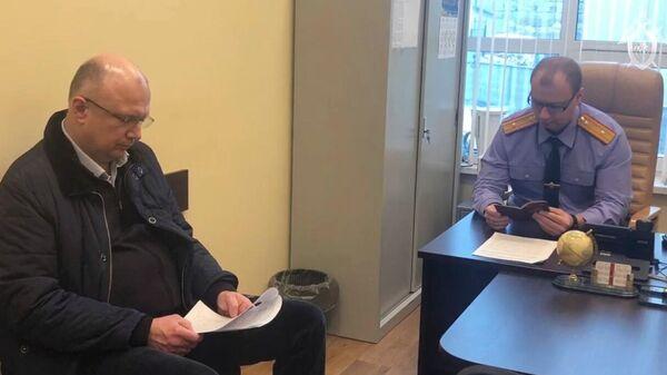 Задержанный вице-губернатор Кировской области Андрей Плитко, подозреваемого в получении взяток, во время допроса