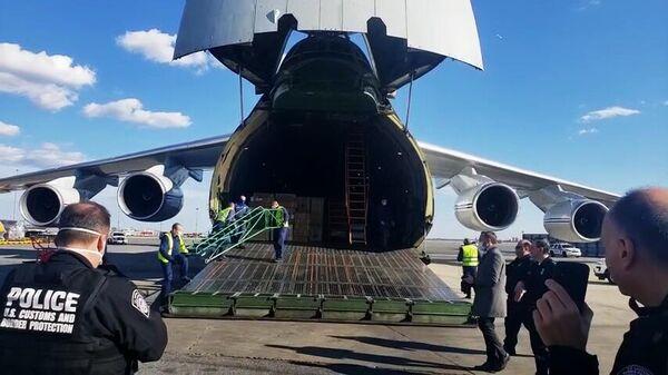 Самолет из России с медицинским оборудованием для США
