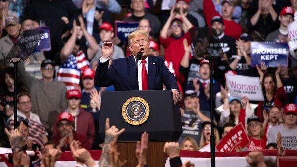 Предвыборный митинг президента США Дональда Трампа