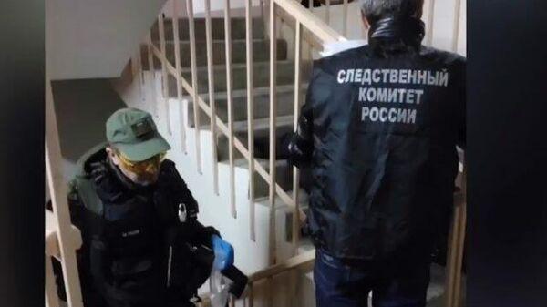 Следственные действия на месте убийства пяти человек в Рязанской области