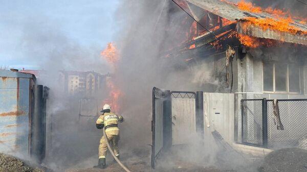 Пожар в городе Ивдель Свердловской области