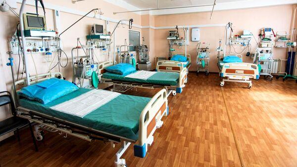 Палата реанимации и интенсивной терапии госпиталя ветеранов войн в Иркутске, который перепрофилируют для лечения пациентов с коронавирусной инфекцией