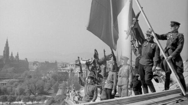 Водружение советского знамени в Вене