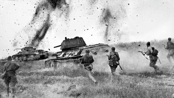 Атака соединений 5 Гвардейской танковой армии в районе Прохоровки