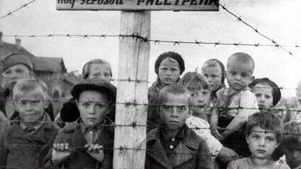 Дети в финском концлагерь в Петрозаводске