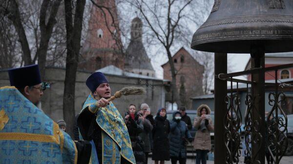 Новые колокола для храма Тихвинской иконы Божией Матери Симонова монастыря