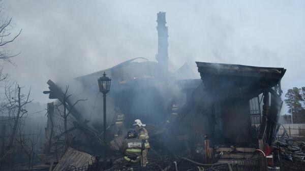 Загорание частных домов в поселке Карагандинский, Тюменской области