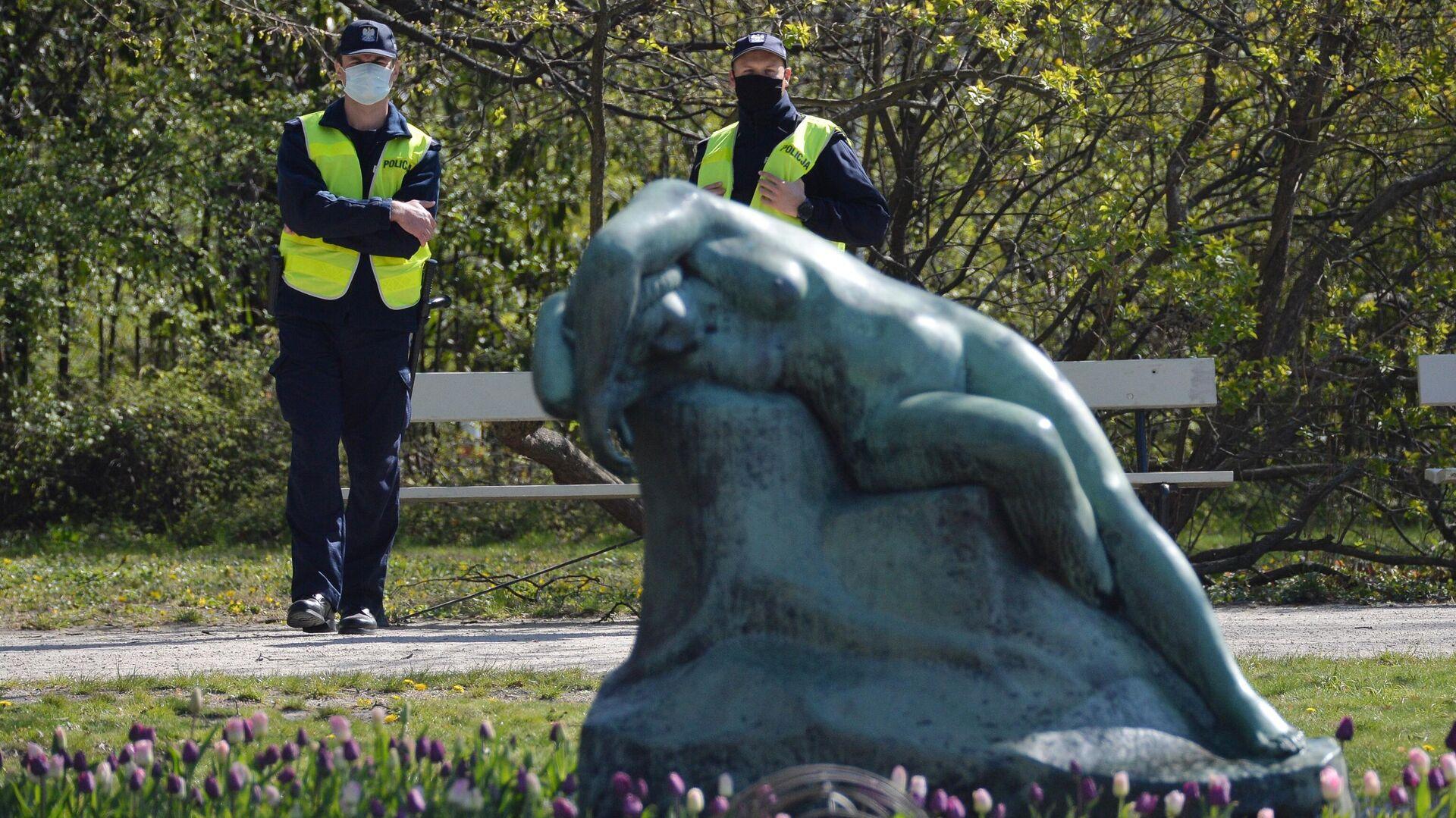 Полицейские в парке Варшавы - РИА Новости, 1920, 27.01.2021