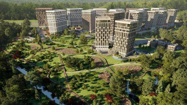 Проект жилого комплекса West Garden компании Интеко в Москве