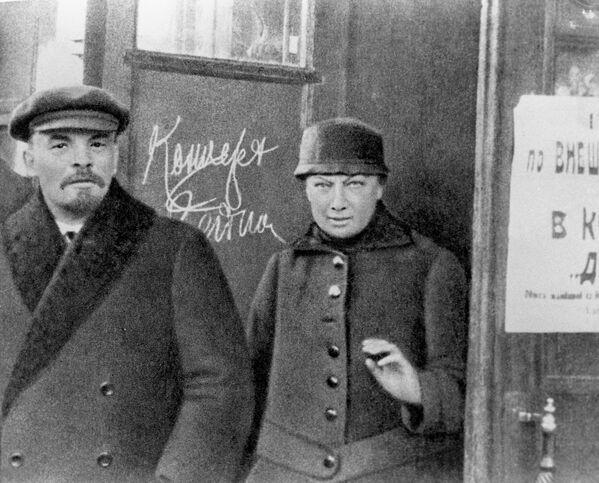 Владимир Ильич Ленин и Надежда Константиновна Крупская