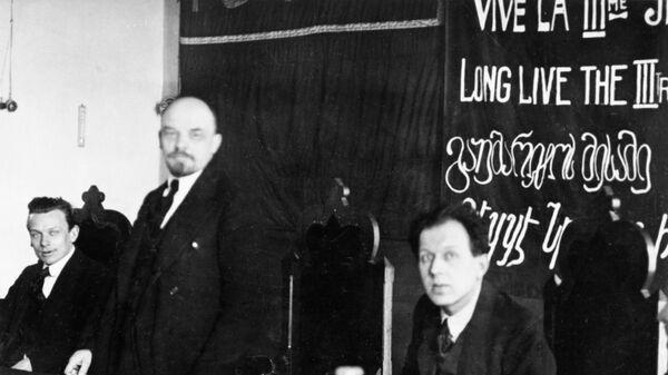 Владимир Ильич Ленин на третьей Циммервальдской конференции в Стокгольме