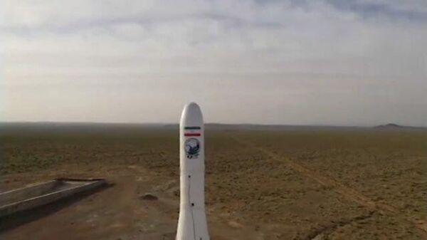 Кадры запуска первого военного спутника в Иране