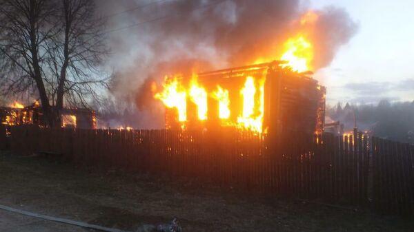 Пожар в населенном пункте Пустынь Владимирской области