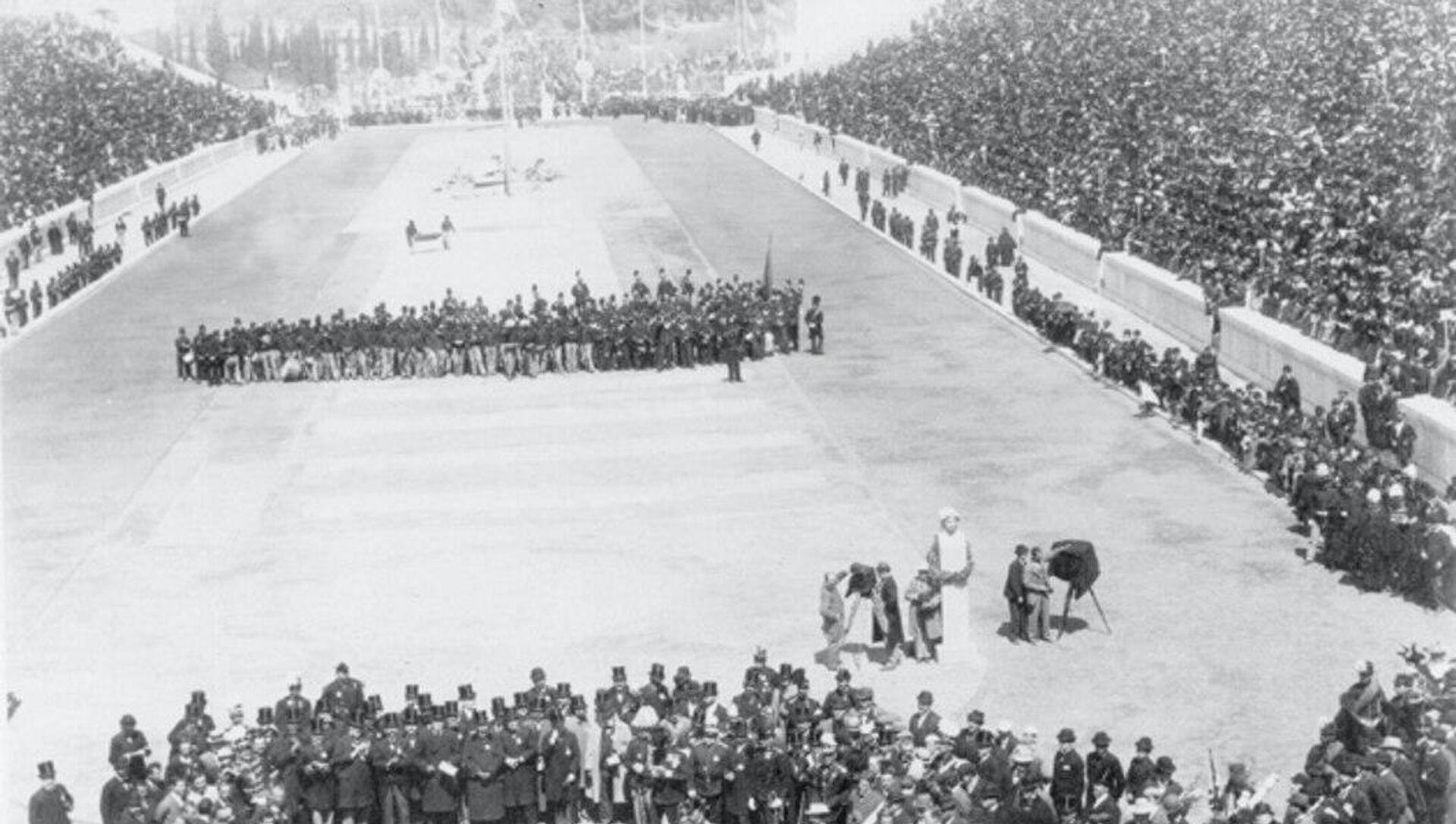 Церемония открытия Олимпийских Игр 1896 года на стадионе Панатинаикос в Афинах - РИА Новости, 1920, 23.04.2020