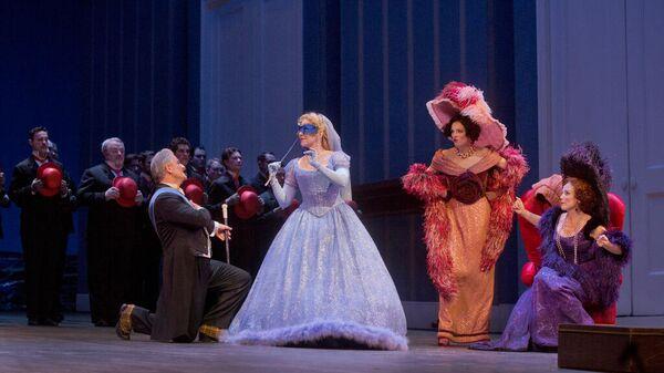 Сцена из оперы Золушка Метрополитен-оперы