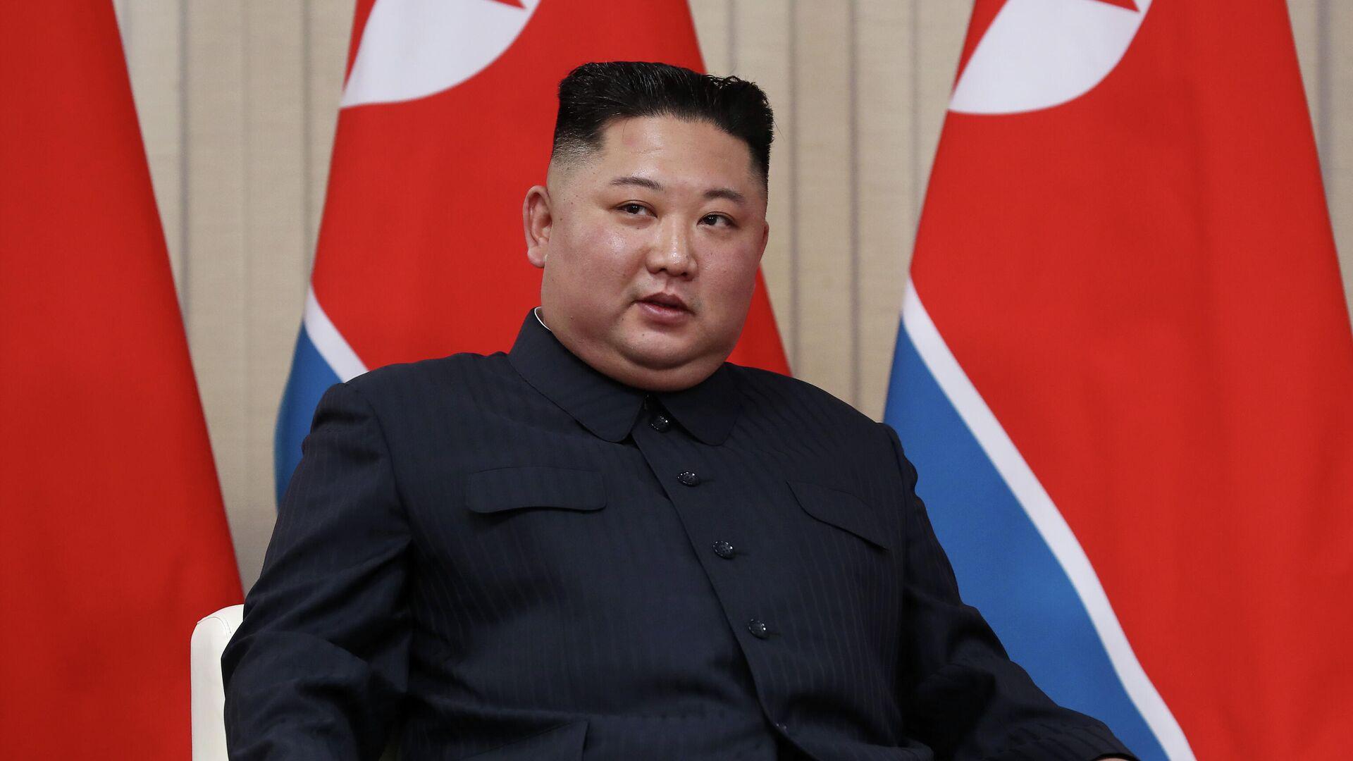 Председатель Госсовета Корейской Народно-Демократической Республики Ким Чен Ын - РИА Новости, 1920, 25.09.2020
