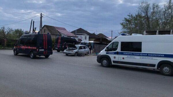 Место взрыва на улице Хорошева в Волгоградской области
