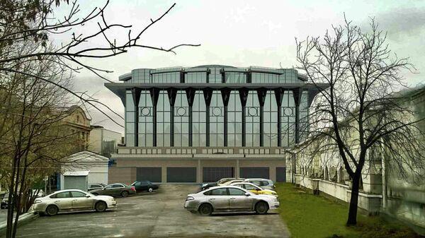 Проект спортцентра у бассейна Чайка в Москве