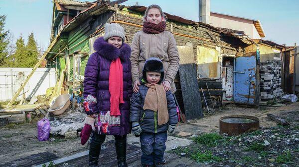 Дети после пожара