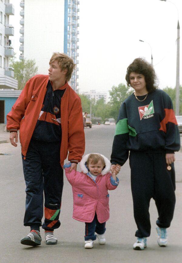 Игорь Колыванов с женой и дочерью