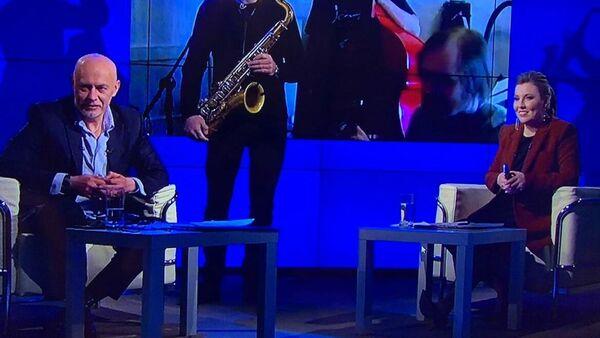 Скриншот выступления Трио Максима Некрасова и Сергея Головни на благотворительном онлайн-марафоне Doctor Jazz Party