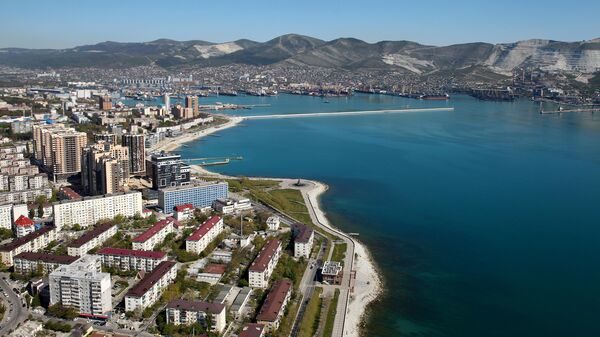 Вид на город Новороссийск