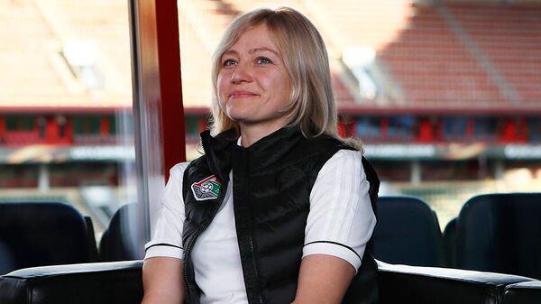 Главный тренер женского футбольного клуба Локомотив Елена Фомина